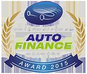 auto finance 2015 award